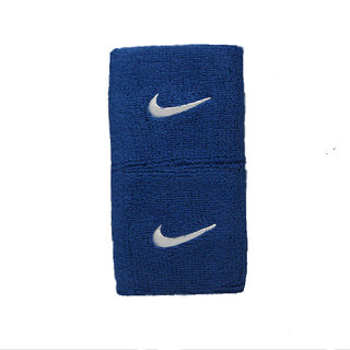 SPORTS WRIST BAND SUPPORTER SWEAT BAND BLUE COLOUR SET Of 2 PC