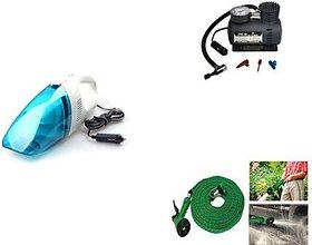 Heavy Duty Vaccum Cleaner + Air Compressor + 8 Mtr Water Gun Combo