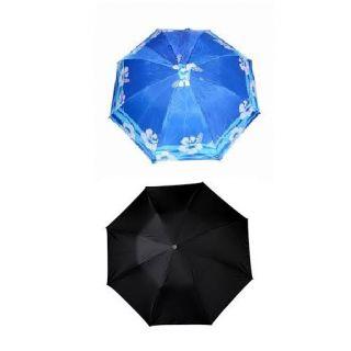 2-Fold (Multicolored + Black) Umbrella Combo