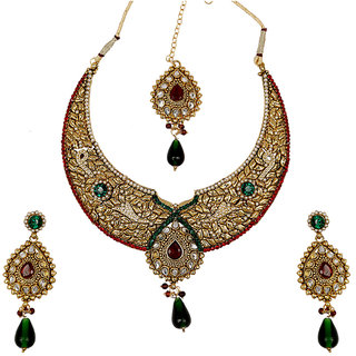 Asian Pearls  Jewels Multicolor Kundan Necklace Set