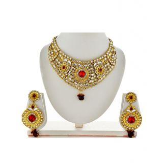 Asian Pearls  Jewels Kundan Necklace Set