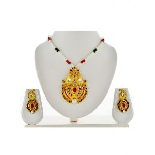Asian Pearls  Jewels Necklace Set with Pendant