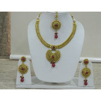 Gold Plated Bridal stone drop Jewellery set