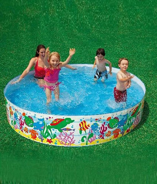 Intex 8 Feet Swimming Pool For Kids And Adults For Home Garden Farmhouse