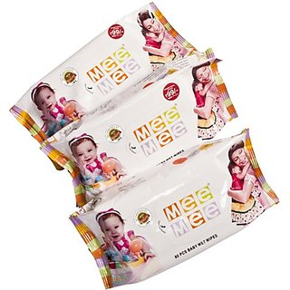 Meemee Baby Wet Wipes Pack Of 3 (240 Pieces)