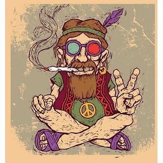 peace baba fridge magnet (3.53.5)