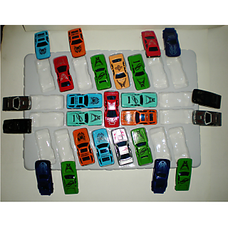 RACING 25 PCS MINI CAR SET NO REMOTE RC NO PULL BACK RETURN GIFT KID TOY