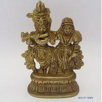 Radha Krishna Brass Statue,Religious God Idol For Pooja,Statue For Temple Puja