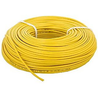 Electrical Cable wire wiring 1.5sq mm (Yellow): Buy Electrical Cable ...