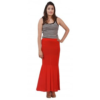 Womans Girls Fish Cut Skirt (Red)