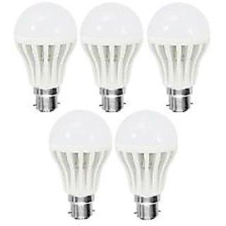 LED BULB BRIGHT WHITE LIGHT 7 WAT SAVING ENERGY 1 SET OF 5 PCS.