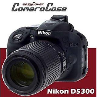 EASY SILICON COVER FOR NIKON D5300-BLACK - FREE SCREEN GUARD