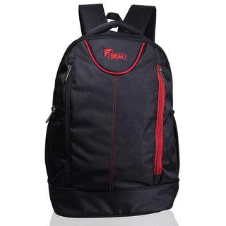 F Gear Booster Lite 29 Liters Laptop Backpack(Black Red)