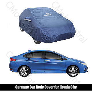 Carmate - Car Body Cover Honda City - Parker Blue ( Premium Quality)
