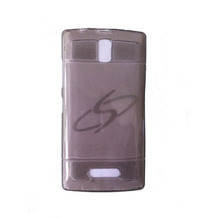 Platina Transparent Grey Back Cover For Lenovo A2010