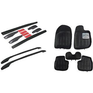 Takecare Black 3D Floor Mat And Black Roof Rail For Honda Crv
