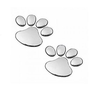 Soonai Foot Mark Silver Car Sticker Lucky Charm Free Shipping