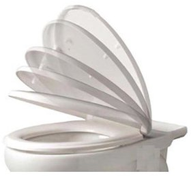 SHRUTI European Soft Close ( Hydraulic ) Wall Hung,Wall Mount Toilet Seat Cover - White(2262)