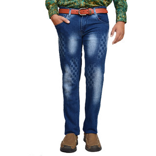 American Noti Blue Faded Stretchable Slim fit Jeans