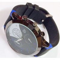 New Stylish Casual Mens Wrist Watch With Black Silicon Strap