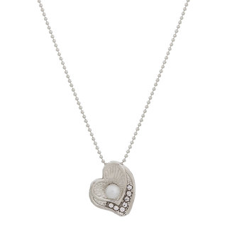 Designer Heart Shape Silver Plated Pendant PD-2157
