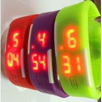 Combo Of Three Bands Unisex Wrist Band Stylish Digital LED Thin Sports Men Women Kid Wrist Watch