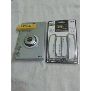 Combo Of Mini Ipop Steering Knob White Ipop Door Guard