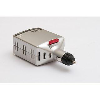 Car Power Multifunctional Inverter Outlet Adapter Charger (12V DC to 220V AC + 5V USB Port)