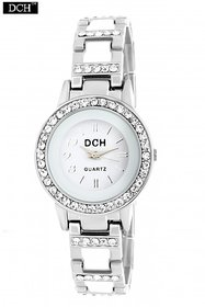 DCH WT 1279 Steel Grey Analog White Dial Watch For women