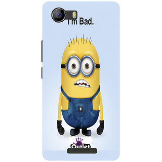 HI5OUTLET Premium Quality Printed Back Case Cover For Micromax Canvas Spark 2Plus Design 112