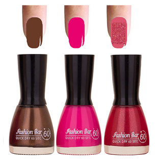 Dynamic Shades 3 Of Pack Gorgeous Nail Polish Combo In 27 Ml 0117