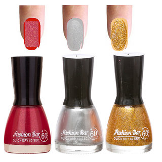 Gold Shades 3 Of Pack Gorgeous Nail Polish Combo In 27 Ml 0107