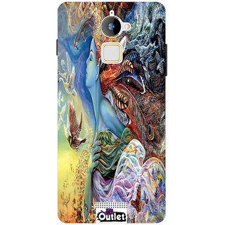 HI5OUTLET Premium Quality Printed Back Case Cover For Coolpad Note 3 Design 124