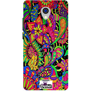 HI5OUTLET Premium Quality Printed Back Case Cover For Micromax Canvas Pace 4G Q416 Design 62