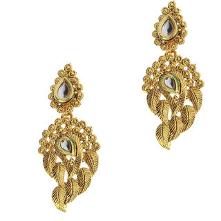 14Fashions Golden Traditional Mango shaped Earrings -1307221