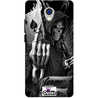 HI5OUTLET Premium Quality Printed Back Case Cover For Micromax Canvas Pace 4G Q416 Design 136