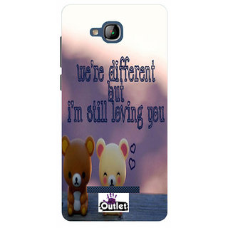HI5OUTLET Premium Quality Printed Back Case Cover For Micromax Canvas Spark 3 Q385 Design 5
