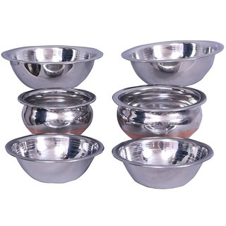 Prince Bridal Combo 4 Pcs Serving Bowl with 2 Pcs Cooking Handi