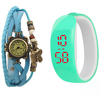 Latest Wedding party watch combo for Girls, Women by Duskywings(SKYBLUE)