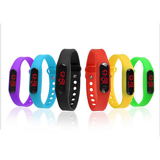 super six slim COMBO LED band watch for boys/girls/Kids by Duskywings