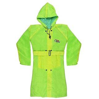 Tuzech Ladies Colourful Raincoat - Light Green