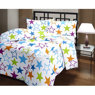 Star Print Reversible Poly Cotton AC Comfort/Blanket/Quilt (Single Bed)