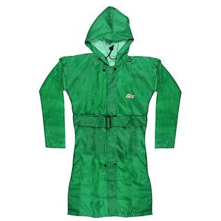 Tuzech Ladies Colourful Raincoat -Dark Green