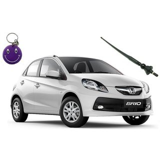 Honda Brio Original Fitment OE AM/FM Screw In Roof Antenna Free Smiley Key Chain