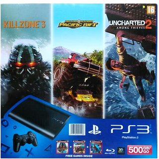 Sony PS3 500GB Gaming Console With Free Games