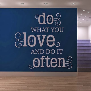 DeStudio Do What You Love TINY Size Wall Decals  Stickers  (45cms x 60cms)