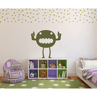 DeStudio Big Mouth Monster TINY Size Wall Decals  Stickers  (45cms x 60cms)