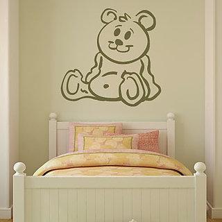DeStudio Cartoon Teddy Bear Small Size Wall Decals  Stickers  (45cms x 51cms)
