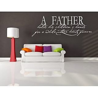 DeStudio A Father Holds Small Size Wall Decals  Stickers  (45cms x 51cms)