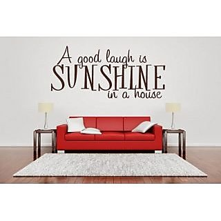 DeStudio A Good Laugh Is Sunshine One TINY Size Wall Decals  Stickers  (45cms x 60cms)